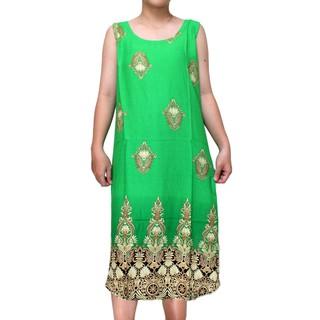Váy Nữ Trung Niên Loại Sát Nách Vải Lanh Mặc Mát - VÁY SÁT NÁCH 1