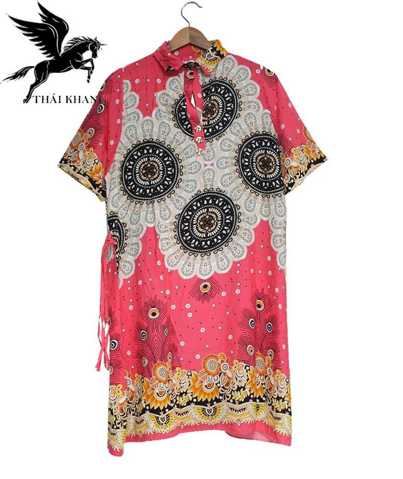 Váy Nữ Trung Niên Có Tay Vải Lanh Sang Trọng - váy trung niên 9