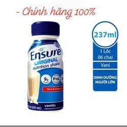 [FreeShip] Combo 6 Chai Sữa Nước Ensure Vani 237ml (237ml * 6 chai) - Chính Hãng - Date Mới