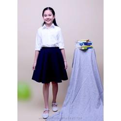 Váy quần đồng phục học sinh nữ cấp 1 , cấp 2 , cấp 3 , Váy quần đi học rẻ- bền - đẹp cho bé gái Jadiny DPG003