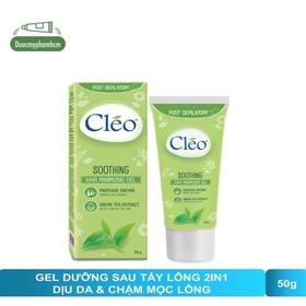 Gel làm dịu da sau tẩy lông Cléo - giúp chậm mọc lông 50g - 0319