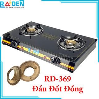 [TRỢ SHIP] Bếp Ga Đôi Raiden RD-369 Mặt Kính Cường Lực Đầu Đốt Đồng Điếu Inox-Hàng Chính Hãng Raiden Việt Nam - RD-369 thumbnail