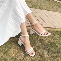 Sandal cao gót nữ 5p, got vuông (miễn ship khách lấy như hình hướng dẫn)