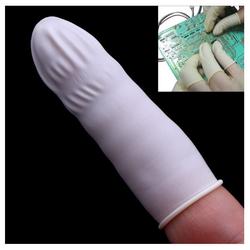 Gói 100 bao bảo vệ đầu ngón tay bằng cao su
