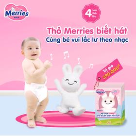 Combo 2 Bỉm Quần Merries + Tặng Thỏ Biết Hát Merries - 2xMerries-quan-tangtho