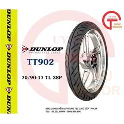 VỎ XE MÁY DUNLOP TT902 SIZE 70.90-17 TL 38P