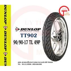 VỎ XE MÁY DUNLOP TT902 SIZE 90.90-17 TL 49P