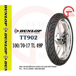 VỎ XE MÁY DUNLOP TT902 SIZE 100.70-17 TL 49P