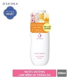 Nước dưỡng làm mềm và trắng da Senka White Beauty Lotion I 200ml - 4901872462964