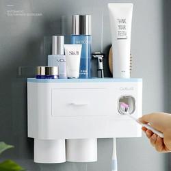 Bộ dụng cụ để kem đánh răng khiêm kệ để đồ nhà tắm
