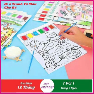 Tranh tô màu cho bé - Bộ 6 tranh tô màu cho bé thumbnail