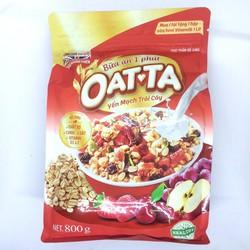 Yến mạch trái cây Oatta gói 800g - bữa ăn dinh dưỡng nhanh gọn 1 phút