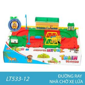 Bộ lắp ráp mô hình đường ray xe lửa nhiều chi tiết dùng pin dành cho bé - LT533-12 - Đồ Khuyến Mãi Từ Sữa Giá Tốt - LT533-12