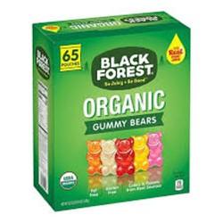 KẸO DẺO TRÁI CÂY HỮU CƠ HÌNH GẤU BLACK FOREST ORGANIC GUMMY BEARS CỦA MỸ HỘP 1.47KG