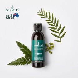 Dầu Tẩy Trang Sạch Sâu Và Dưỡng Ẩm Sukin Super Greens Cleansing Oil 125ml