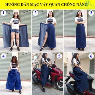 Váy Quần Chống Nắng Jean Vải Mềm Loại Cao Cấp Có Thêu Họa Tiết Bông Lúa Nổi Bật H&T Fashion [ĐƯỢC KIỂM HÀNG] 32415004 - 32415004 thumbnail