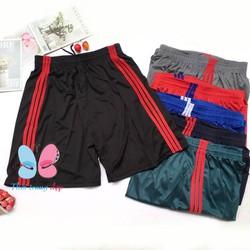 Quần đùi sọt nam thể thao mặc nhà thun lạnh 3 sọc – SIZE từ 60-85kg