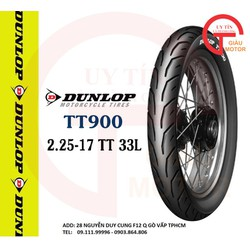 VỎ XE MÁY DUNLOP TT900 SIZE 2.25-17 TT 33L