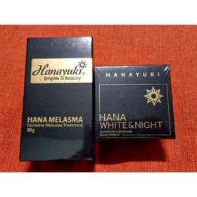 Bộ đôi trị nám Hanayuki dưỡng trắng(CHÍNH HÃNG Date 2022)- serum nám và kem đêm dưỡng trắng tái tạo da - Trị nám Hanayuki dưỡng trắng