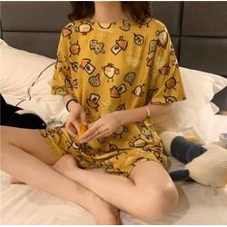 Bộ đồ ngủ hoạt hình, hình thú ( zoo ), chất liệu vải cotton siêu đẹp, siêu mát. Phù hợp mặc cho mùa hè.