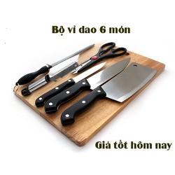 [Kiểm hàng thanh toán]BỘ DAO KITCHEN KNIFE 6 MÓN CAO CẤP CHO KHÔNG GIAN BẾP BẠN