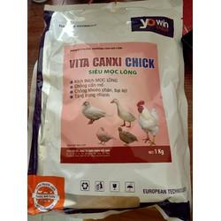 VITA CANXI CHICK 1kg  siêu mọc lông , chống cắn mổ.