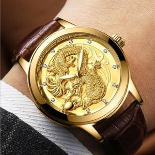 Đồng hồ nam dây da - Đồng hồ FNG mặt rồng cá tính thumbnail
