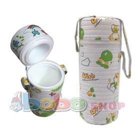 Túi ủ bình sũa-Túi ủ bình sữa đơn cổ nhỏ cho bé họa tiết ngẫu nhiên - ủ bình sữa đơn
