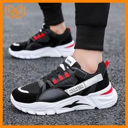 Giày thể thao nam đẹp chất đế độn màu đen TL562 , giày thể thao nam, giày thể thao nam
