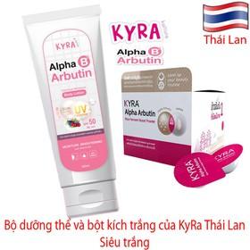 Dưỡng thể và bột kích trắng Kyra Alpha Arbutin - Thái Lan - Dưỡng thể và bột kích trắng Kyra Alpha Arbuti