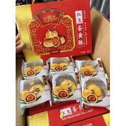 [Nhập SD55Y6 giảm 15k] [Freeship] Bánh Trung Thu Đậu Đỏ Trứng Muối Đài Loan Hộp 6 Cái
