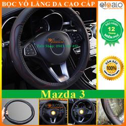Bọc Vô Lăng Xe Ô Tô Mazda 3 Cao Su Non Da Nhăn Cao Cấp Chống Trượt