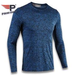 Áo thun tay dài nam cổ tròn tập gym ADT04 PigoFashion màu xanh công, xem thêm nhiều màu