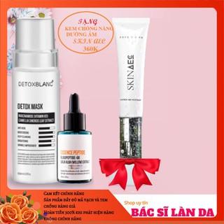 Combo trị nám tận gốc Detox Blanc Tặng kem chống nắng skin aec - COMBONAMTANGKCN 2