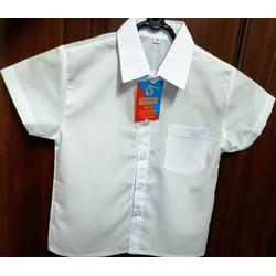 Áo Sơ mi trắng học sinh nam tay ngắn size từ 1- XL (12-50 Kg)