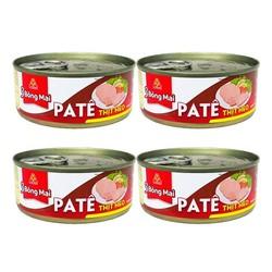 Combo 4 hộp Pate Thịt Heo 3 Bông Mai Vissan ( 1 hộp 150g)