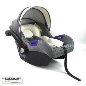 Nôi xách kiêm gắn ghế ngồi ô tô GLuck Baby Zy07 Xám - ZY07XAM