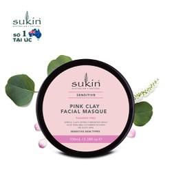 Mặt Nạ Đất Sét Hồng Cho Da Nhạy Cảm Sukin Sensitive Pink Clay Facial Masque 100ml