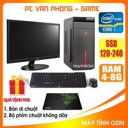 Bộ Case máy tính để bàn CPU Dual core E7-8xxx / Core i5-2320 / Ram 4GB / HDD 250GB-500GB / SSD 120GB-240GB + Màn hình + [QUÀ TẶNG: Bộ phím chuột không dây + bàn di] - SDV