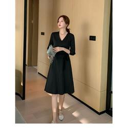 Đầm nữ thời trang, phối họa tiết nổi bật, thời trang Hàn Quốc