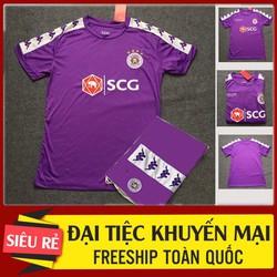 Quần áo bóng đá Hà Nội FC tím trẻ em