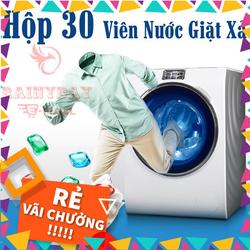 Viên giặt xả quần áo đồ vải 2 in 1 hạt hương hoa thơm lâu dịu nhẹ dạng túi gel nước [ hộp 30 ] [Hàng sẳn có]