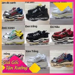 Giày Thể Thao Triple S Full Đen Size 36  43 Nam Nữ