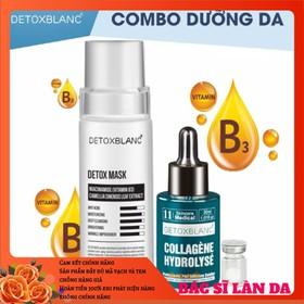 Combo mask thải độc+serum collagen dưỡng trắng da detox blanc - DGGEGTYR