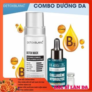 Combo mask thải độc+serum collagen dưỡng trắng da detox blanc - DGGEGTYR thumbnail