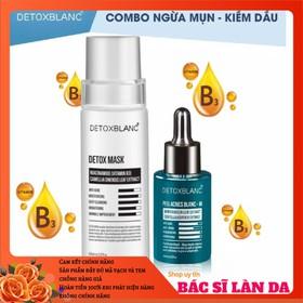 Bộ thải độc ngừa mụn dưỡng trắng da Detox Blanc (Detox Mask+Serum M) - MASK.SERUM-M