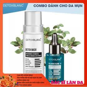 Combo trị mụn thải độc dưỡng trắng da Detox Blanc (Detox Mask+Serum H) - MASK.SERUM-H