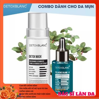 Combo trị mụn thải độc dưỡng trắng da Detox Blanc (Detox Mask+Serum H) - MASK.SERUM-H thumbnail