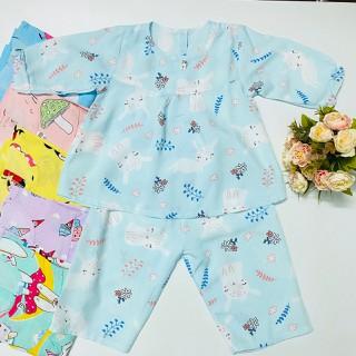 COMBO 3 bộ Quần áo Tole, lanh bé gái / Mẫu Tay Dài Cài Nút Sau / Size 1-13 cho bé 5-36kg/ Chất vải tole, lanh 2 da loại 1 mềm, mịn, mát cho bé gái/ Quần áo bé gái/ Quần áo trẻ em/ đồ bộ bé gái