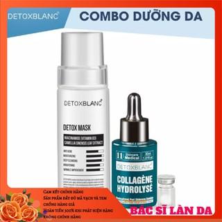 Combo mask thải độc+serum collagen dưỡng trắng da detox blanc - DGGEGTYR 3